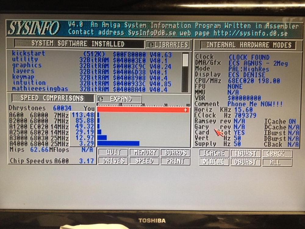 Hardware Classic (Phoenix 020 200 mhz)