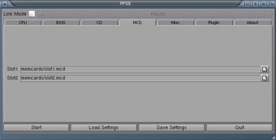 MCD settings