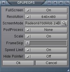 GPU settings