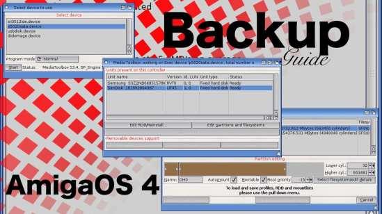 Realiza tus copias de seguridad con AmigaOS 4 y Uboot #aMiGaTrOnIcS